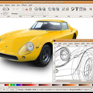 Editor profesional de gráficos vectoriales: Inskcape – libre y de código abierto.
