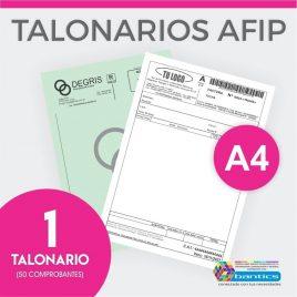 TALONARIO AFIP FACTURAS A4 FA FB FC RR X 01
