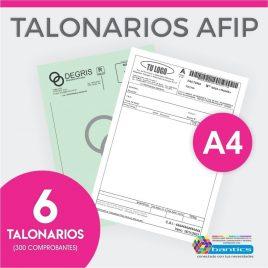 TALONARIO AFIP A4 FA FB FC RR X 06