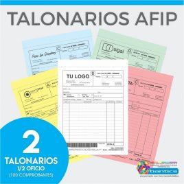 TALONARIO AFIP 1/2 OFICIO FA FB FC RR X 02