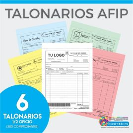 TALONARIO AFIP 1/2 OFICIO FA FB FC RR X 06