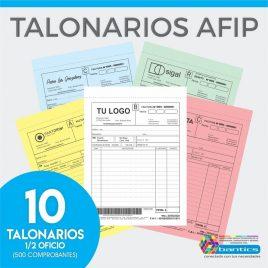 TALONARIO AFIP 1/2 OFICIO FA FB FC RR X 10