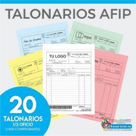 TALONARIO AFIP 1/2 OFICIO FA FB FC RR X 20