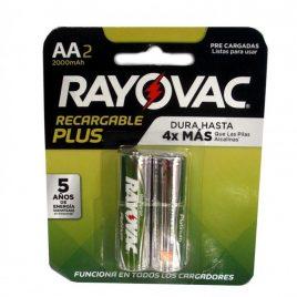 PILA RECARGABLE RAYOVAC AA PACK X2 2000 mAh