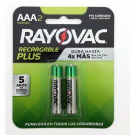 PILA RECARGABLE RAYOVAC AAA PACK X 2|
