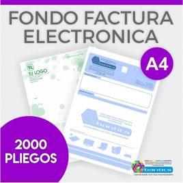 Fondo factura electronica A4 un color x 2000 pliegos