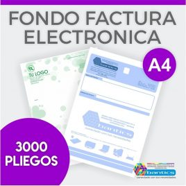 Fondo factura electronica A4 un color x 3000 pliegos