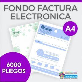 Fondo factura electronica A4 un color x 6000 pliegos