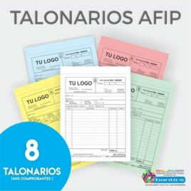 TALONARIO 1/2 OFICIO X8