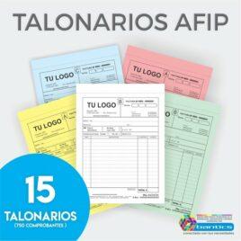 TALONARIO 1/2 OFICIO X15
